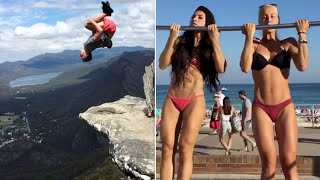 CRAZY STUNTS AND MOVES - AMAZING PEOPLE DOING INCREDIBLE THINGS
