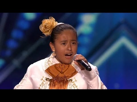 America's Got Talent 2015 S10E03 Alondra Santos 13 Year Old Mariachi Singer
