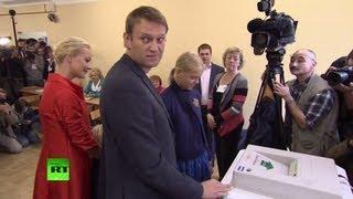 Алексей Навальный и Сергей Собянин проголосовали на выборах мэра Москвы