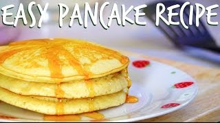 how to make pancakes with flour milk and eggs
