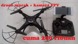 X5SW-1 drone murah 200 ribuan sudah kamera FPV.. cheap quadcopter...