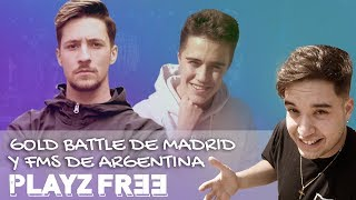 Reacciones de Gazir y Jesús LC después de la Gold Battle de Madrid | PlayzFree