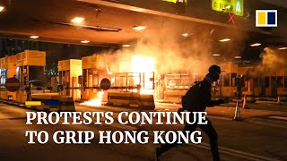 Protests continue to grip Hong Kong