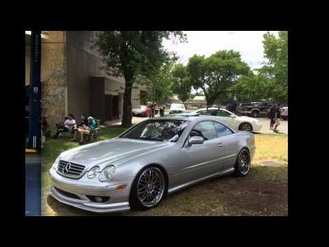MERCEDES CL55 AMG MEET / STANCE SHOW OFF / W215 AMG LIP KIT CARBON FIBER AND VIP WHEEL