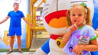 Мой весёлый день с папой Видео для детей My super fun day with dad on the playground Video for kids