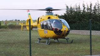 preview picture of video 'Mentőhelikopter felszállás Martonvásáron'