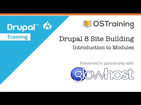 Drupal 8 Site Building, Lesson 20: Introduction to Modules - YouTube