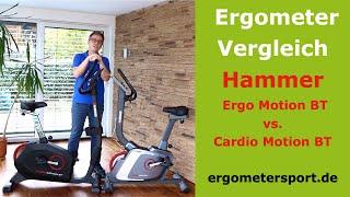 Ergometer Vergleich: Hammer Cardio Motion BT vs. Ergo Motion BT #ergometertest