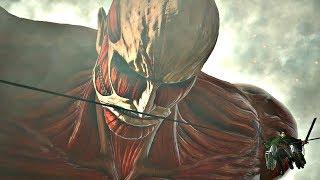 ATTACK ON TITAN 2 - Armored Titan + Colossal Titan Boss Fight & TRANSFORMATION (PS4 PRO)