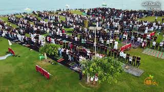 أهالي يافا يؤدون صلاة عيد الأضحى المبارك في متنزه العجمي