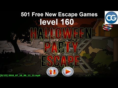 [Walkthrough] 501 Free New Escape Games level 160 - Halloween party escape - Complete Game