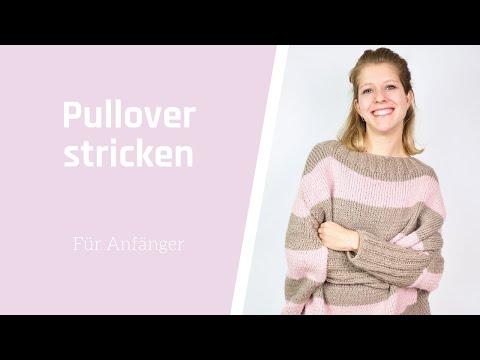 Pullover stricken für Anfänger