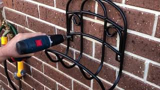 How to Mount a Hose hanger or anything really onto a Brick Wall. Strong easy mounting to Brick