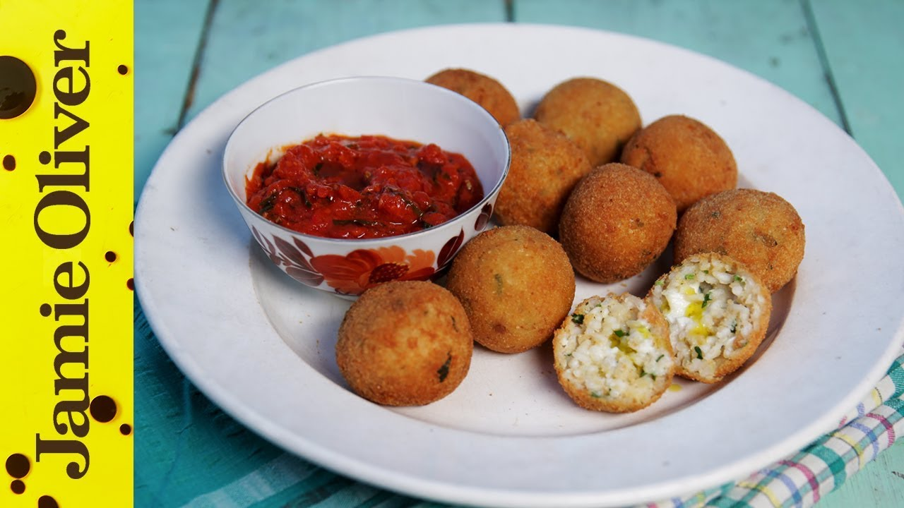 Antipasti recipes jamie oliver classic arancini di riso risotto rice balls forumfinder Image collections