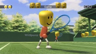 Wii Sports Tennis But Everytime The Ball Is Hit It Plays The Roblox Death Sound