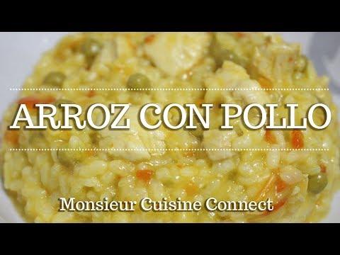 ARROZ CON POLLO en Monsieur Cuisine Connect   Ingredientes entre dientes