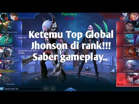 Main saber di rank ga sengaja ketemu top global jhonson!!!