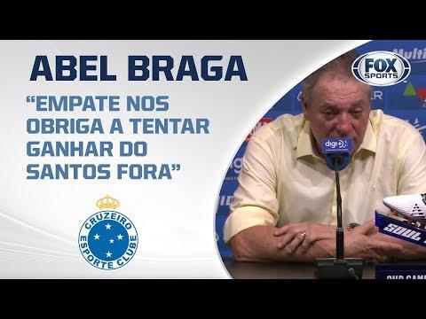ABEL BRAGA MANDA RECADO APÓS NOVO TROPEÇO DO CRUZEIRO