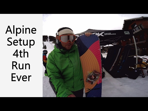 4th Run on Alpine Snowboard