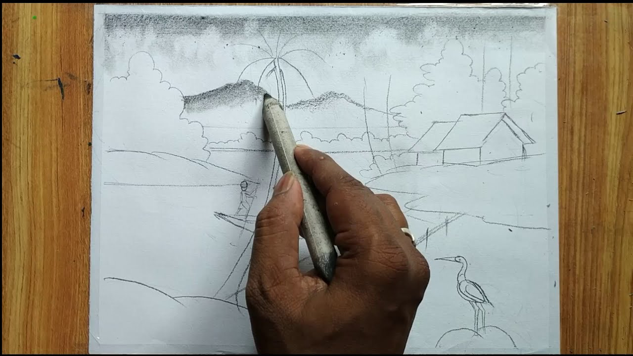 drawing easy pencil scenary tutorials by drawing academy