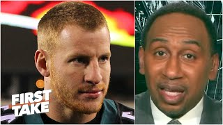 Carson Wentz should be 'sick to his stomach' for the DeAndre Hopkins trade - Stephen A.   First Take