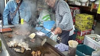 Japanese Street Food - Grilled Hormones in Nishinari Osaka