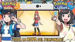 ¡Dónde Comprar Y Conseguir Toda La ROPA Del Personaje! - Pokémon Sol Y Luna