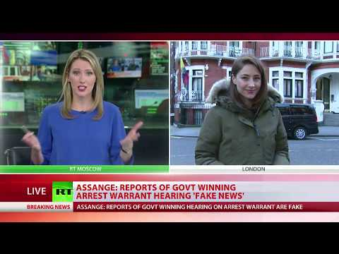 Assange: Reports of govt winning arrest warrant hearing 'fake news'