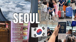 Travel 14 hrs With Me To Seoul, South Korea 🇰🇷나와 함께 서울로 여행 (NYC to ICN ALONE) Asia Vlog #1