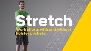 Snickers 6914 FlexiWork Stretch-Arbeitsshorts, navy-schwarz