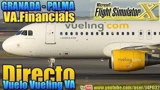 preview picture of video '[FSX]VuelingVA Granada-Palma - EN DIRECTO'