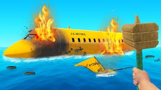 I FOUND A WRECKED AIRPLANE In Raft!
