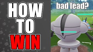 HOW TO WIN GO BATTLE LEAGUE WITH A BAD LEAD (REGISTEEL EXAMPLE) | Pokemon Go PvP Tips