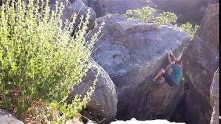 Huge chunk of rock lands on my leg,  bouldering in Little Rock Canyon, Provo,  Utah