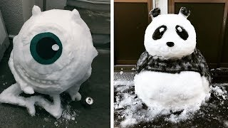 Каких Снеговиков Делают в Японии