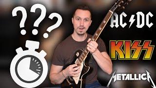 Guess 30 Songs By Famous BADASS Guitar RIFFS