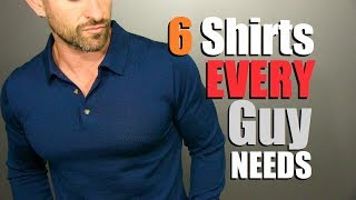 6 Long Sleeve Shirts EVERY Guy NEEDS In His Wardrobe! (Mens Style Essentials)