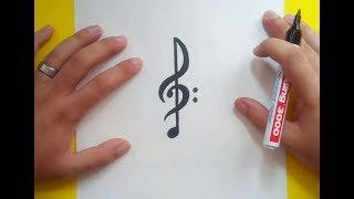 Dibujos De Notas Musicales A Lapiz मफत ऑनलइन