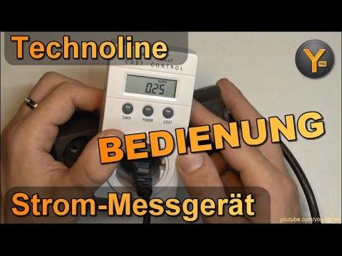 Bedienung & Einrichtung: Technoline Cost Control / Energie-Messgerät / Stromverbrauch messen
