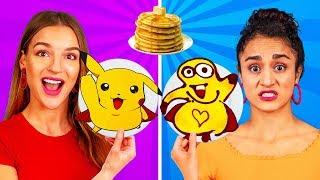 SANATSAL KREP KAPIŞMASI! 24 Saatte Krepten Nasıl Minionlar, Sünger Bob ve Emojiler yapılır!