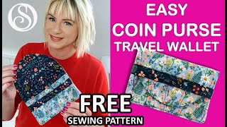 Easy Coin Purse Sewing Tutorial.  Face Mask Holder. Wallet Sewalong - No Hardware, Beginner Friendly
