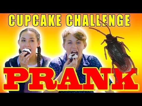 Cockroach in Cupcake PRANK!  (MattyBRaps vs Haschak Sisters)