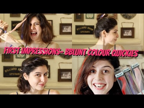 First Impressions || BBLUNT Colour Quickies Clip-On Hair Extension!!!