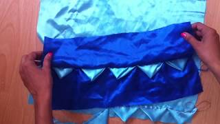 Fabric Manipulation.How To Make Diamond Pleats .