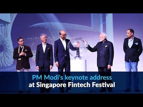 PM Modi's keynote address at Singapore Fintech Festival