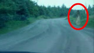 Real Ghost on Road   Ghosts, Spirits, and Demons caught on Video   Tape 8