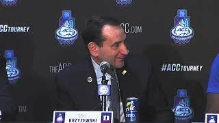 BREAKING NEWS: Zion Williamson, Mike Krzyzewski post ACC Championship win press conference.