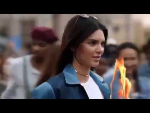 Kendall's Pepsi Commercial (Molotov cocktail edition)