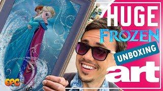 Frozen Disney Fine Art Painting UNBOXING! Just in Time for Frozen 2 Teaser!