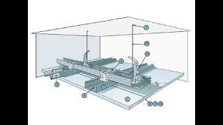 Плавающий потолок из гипсокартона часть 30